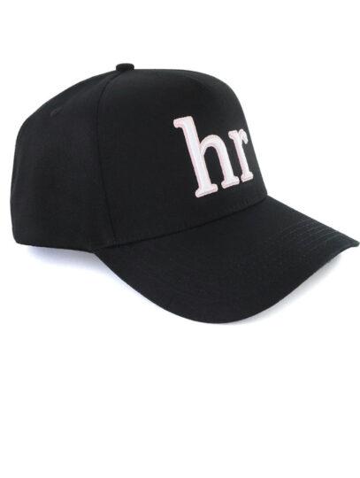 hr – snapback negro letras blancas con rosa principal
